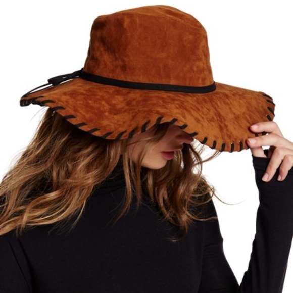 16f3adf28 San Diego Hat Company Accessories | Faux Suede Whip Stitch Brim ...